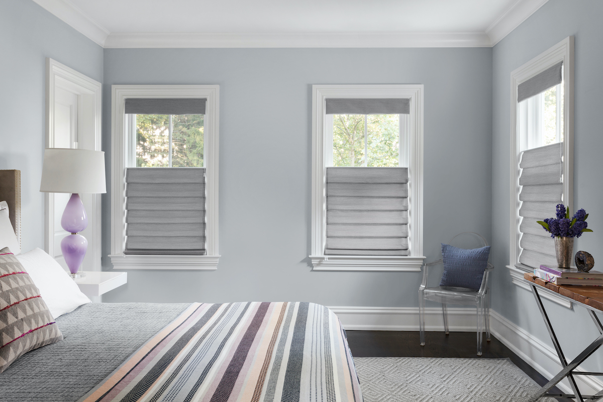 Showcasing cellular shades with top down bottom up option and blackout material